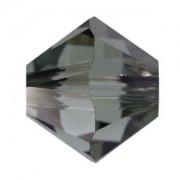 Swarovski Elements Perlen Bicones 3mm Black Diamond Satin beschichtet 50 Stück