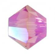 Swarovski Elements Perlen Bicones 3mm Rose AB 2X beschichtet 100 Stück