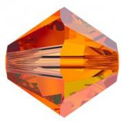 Swarovski Elements Perlen Bicones 4mm Tangerine 50 Stück