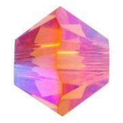 Swarovski Elements Perlen Bicones 4mm Tangerine AB2X beschichtet 100 Stück