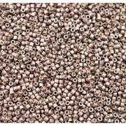 Miyuki Delica Beads 1,6mm DB1843F Duracoat frosted galvanized Dark Mauve ca 7,2 Gr.