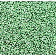 Miyuki Delica Beads 1,6mm DB1844F Duracoat frosted galvanized Dark Mint Green ca 7,2 Gr.