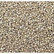 Miyuki Delica Beads 1,6mm DB1851F Duracoat frosted galvanized Smokey Pewter ca 7,2 Gr.