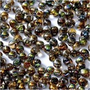 Miyuki Tropfen Beads 3,4mm Czech Coating 55013 Crystal Magic Copper ca 10 gr