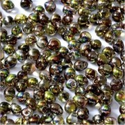 Miyuki Tropfen Beads 3,4mm Czech Coating 55014 Crystal Magic Green ca 10 gr