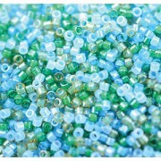 Miyuki Delica Beads Neon Mix07 1,6mm DB2067 luminous Mermaid Waters ca 5gr