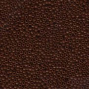 Miyuki Rocailles Beads 2mm 0419 opaque Chocolate Brown ca 12gr