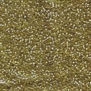 Miyuki Rocailles Beads 1,5mm 1631 silverlined semimatt Jonquil ca 11gr