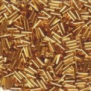 Miyuki Stäbchen Bugle Beads 6mm 0191 24 Karat Gold Plated ca 10gr
