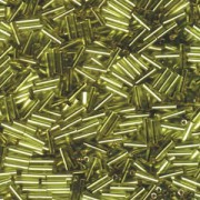 Miyuki Stäbchen Bugle Beads 6mm 0014 silverlined Chartreuse ca 10gr