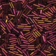 Miyuki Stäbchen Bugle Beads 6mm 0301 dark rainbow Topaz Gold ca 10gr