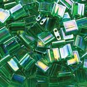 Miyuki Tila Beads 5mm transparent luster Green TL0179 ca 7,2gr
