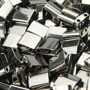 Miyuki Tila Beads 5mm plated Nickle TL0190 ca 7,2gr
