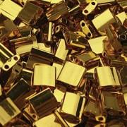 Miyuki Tila Beads 5mm plated 24 Karat Gold TL0191 ca 7,2gr
