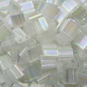 Miyuki Tila Beads 5mm rainbow silk satin Crystal TL2549 ca 7,2gr