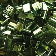 Miyuki Tila Beads 5mm luster Olive Green Gold TL0306 ca 7,2gr