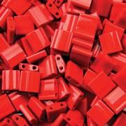 Miyuki Tila Beads 5mm opaque Red TL0408 ca 7,2gr