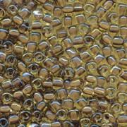 Miyuki Dreieck Beads, Triangle Beads 3mm 1162 colorlined Gold Brown ca13gr