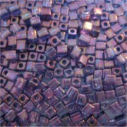 Miyuki Würfel Beads, Cube, Square Beads 4mm 1884 luster Violet Gold 25gr