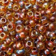 Miyuki Rocailles Picasso Beads 3mm 4501 transparent Saffron ca 22gr