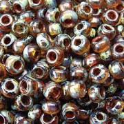 Miyuki Rocailles Picasso Beads 4mm 4505 transparent Cream ca 20gr