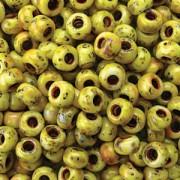 Miyuki Rocailles Picasso Beads 3mm 4512 matt canary Yelow ca 22gr