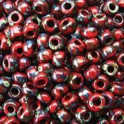 Miyuki Rocailles Picasso Beads 4mm 4513 matt Red Garnet ca 20gr