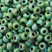 Miyuki Rocailles Picasso Beads 3mm 4514 matt Seafoam Green ca 22gr