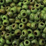 Miyuki Rocailles Picasso Beads 3mm 4515 matt Chartreuse ca 22gr