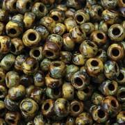 Miyuki Rocailles Picasso Beads 3mm 4517 matt Berwn ca 22gr