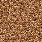 Miyuki Rocailles Beads 4mm 4203 Duracoat galvanized Yellow-Gold 20gr