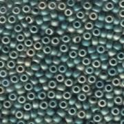 Miyuki Rocailles Beads 4mm 1256 metallic matte Green irisierend ca 20gr