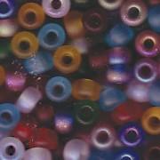 Miyuki Rocailles Beads 4mm Mix42 Matte Rainbow ca 20 Gr.