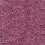 Miyuki Rocailles Beads 2mm 0313SF semi matt gold luster Cranberry ca 12gr