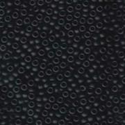 Miyuki Rocailles Beads 3mm 0401F opaque matte Black ca 13gr