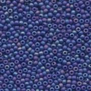 Miyuki Rocailles Beads 3mm 0414FR opaque opaque matte rainbow Cobalt Blue ca 13gr