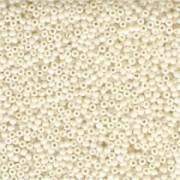 Miyuki Rocailles Beads 3mm 0421 opaque luster Eggshell ca 13gr