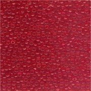 Miyuki Rocailles Beads 2mm 0140 transparent Medium Red 12gr