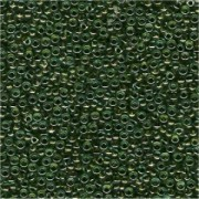 Miyuki Rocailles Beads 2mm 0229 insinde colorlined Olive Green 12gr