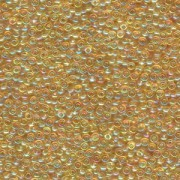 Miyuki Rocailles Beads 2mm 0251 transparent rainbow Light Gold 12gr