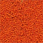 Miyuki Rocailles Beads 2mm 0405 opaque Medium Orange 12gr