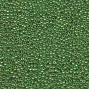 Miyuki Rocailles Beads 2mm 0431 opaque luster Medium Green 12gr