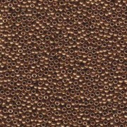 Miyuki Rocailles Beads 2mm 0457L metallic light Bronze ca 12gr