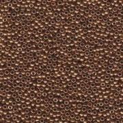 Miyuki Rocailles Beads 2mm 0457L metallic light Bronze ca 12gr