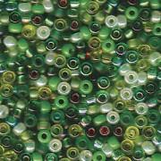 Miyuki Rocailles Beads 2mm Mix03 Evergreen ca 24Gr.
