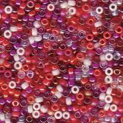 Miyuki Rocailles Beads 2mm Mix05 Strawberry Fields ca 24 Gr.