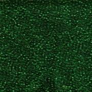 Miyuki Rocailles Beads 1,5mm 0147 transparent Dark Green ca 11gr