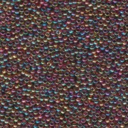 Miyuki Rocailles Beads 1,5mm 0257 transparent rainbow Purple-Amber ca 11gr