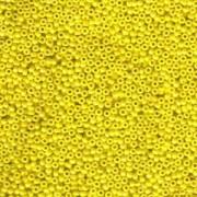 Miyuki Rocailles Beads 1,5mm 0422 opaque luster Yellow ca 11gr