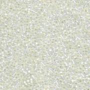 Miyuki Rocailles Beads 1,5mm 0551 gilt lined White Opal ca 11gr